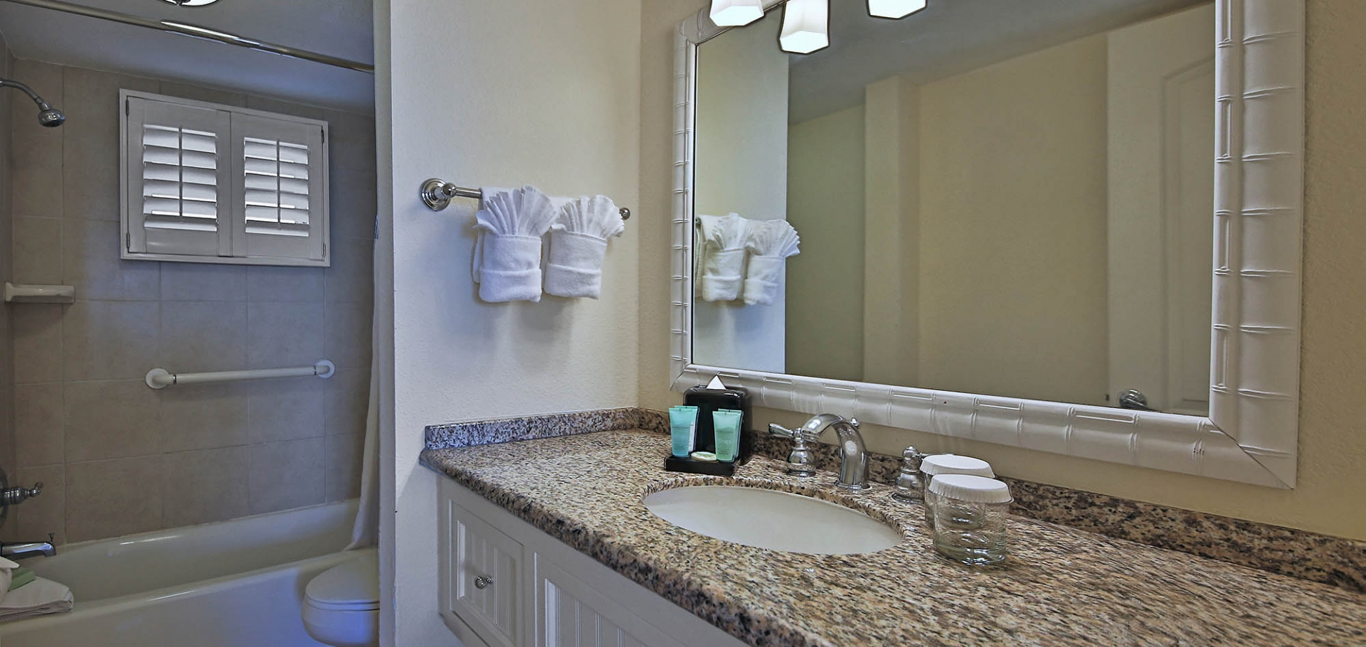Sanibel Inn bathroom sink and mirror