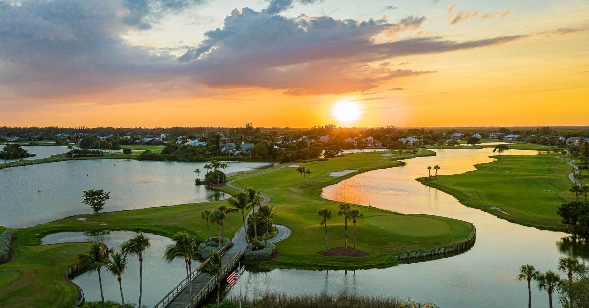 Aerial view of The Dunes Sanibel Island golf course