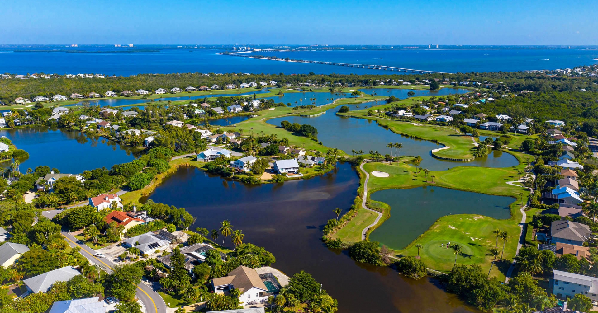 The Dunes golf course from above