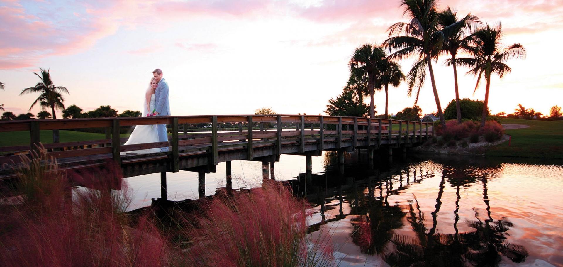 Bride and Groom on Sanibel Island